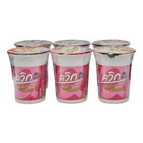 ไวไว ควิกคัพ บะหมี่กึ่งสำเร็จรูป รสต้มยำพริกเผา 60 กรัม x 6 ถ้วย