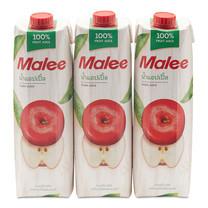 มาลี น้ำแอปเปิ้ล 100% 1,000 มิลลิลิตร 3 กล่อง
