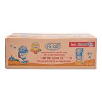 ไฮคิว 3 พลัส นมยูเอชที รสน้ำผึ้ง PREBIO ขนาด180 มล. แพ็ก 36 กล่อง