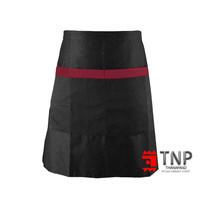 เอโร่ ผ้ากันเปื้อนครึ่งตัว สีดำแถบแดง 1 ตัว