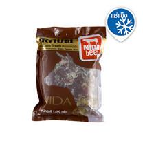 นิดาบีฟ เนื้อวัวหมักพริกไทยดำแช่แข็ง 1000 ก. x 1 แพ็ก