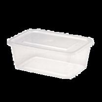 SAVEPAK กล่องอาหารเหลี่ยม ขนาด 1000 มิลลิลิตร 15 กล่อง 1 แพ็ค