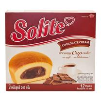 โซไลท์ ช็อคโกแลตคัสตาร์คเค็ก ขนาด20 ก. แพ็ก 12 ชิ้น