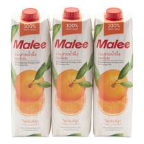 มาลี น้ำส้มสายน้ำผึ้ง 100% 1000 มล. x3 กล่อง