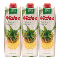 มาลี น้ำสับปะรด 100% ขนาด 1000มล. แพ็ก 3 กล่อง