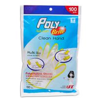 POLY ถุงมือพลาสติก HDPE 100 ชิ้น x1 ชิ้น