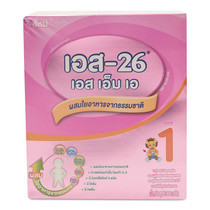 นมผงเอส-26 สูตร1 600 ก. แพ็กละ 3 กล่อง