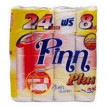 พินน์พลัส กระดาษชำระ 24+8 ม้วน x1 แพ็ก