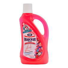 มาจิคลีน ผลิตภัณฑ์ทำความสะอาดพื้น กลิ่นเบอร์รี อโรมา สีแดง  ขนาด 900 มล.