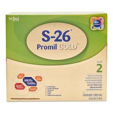 S26 โปรมิลโกลด์ นมผงดัดแปลงสูตรต่อเนื่อง สูตร2 สำหรับวัย 6 เดือน - 3 ปี ขนาด 1800 กรัม