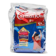 คาร์เนชั่น วันพลัส สมาร์ทโก ผลิตภัณฑ์นมผง รสจืด 550 กรัม แพ็ก 3 ถุง