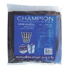 แชมเปี้ยน ถุงขยะสีดำ ขนาด 30x40 นิ้ว แพ็กคู่ บรรจุ 30 ใบ