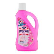 มาจิคลีน ผลิตภัณฑ์ทำความสะอาดพื้น ลิ่ลลี่บูเก้ สีชมพู 900 มล.