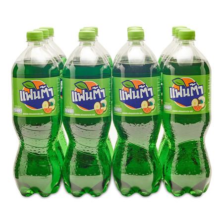 แฟนต้า เครื่องดื่มน้ำอัดลม น้ำเขียว 1.25 ลิตร x 12 ขวด