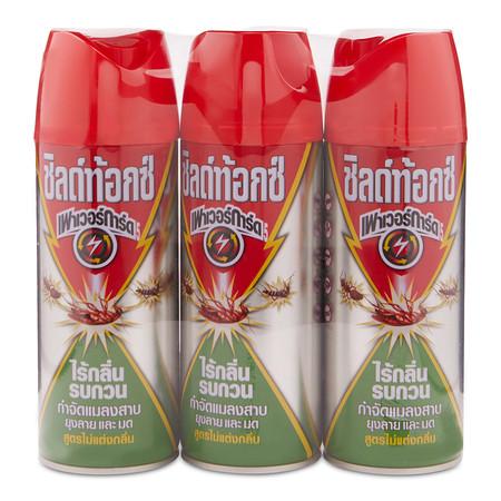 ชิลด์ท้อกซ์ เพาเวอร์การ์ด กำจัดแมลง สูตรไร้กลิ่นเขียว 300 มิลลิลิตร แพ็กละ 3 ชิ้น