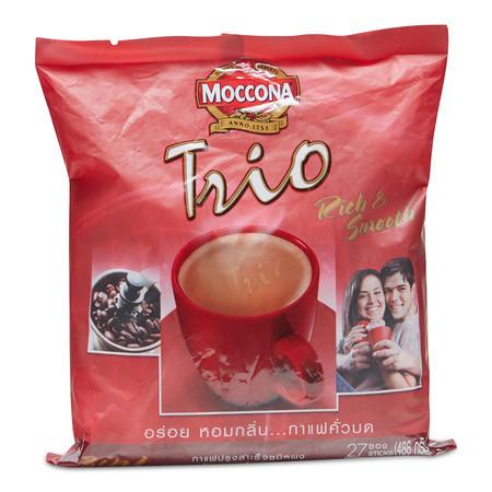 มอคโคน่าทรีโอ ริชแอนด์สมูท กาแฟปรุงสำเร็จชนิดผง ขนาด18 ก. แพ็ก 27 ซอง