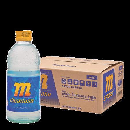 เอ็มสปอร์ต เครื่องดื่มเกลือแร่ 250 มิลลิลิตร x 24 ขวด (ยกลัง)