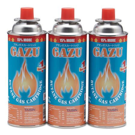 GAZU แก๊สกระป๋อง 250 กรัม (3 กระป๋อง)