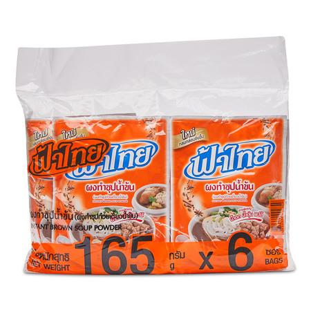 ฟ้าไทย ผงทำซุปน้ำข้น 165 กรัม x 6 ซอง