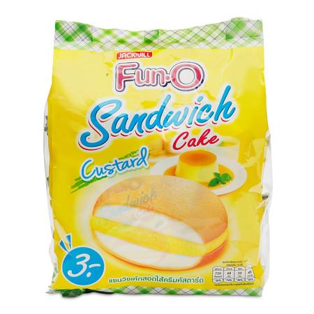 ฟันโอ แซนวิชเค้กสอดไส้ครีมคัสตาร์ด 13 ก. x12 ซอง