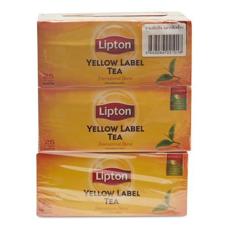 ลิปตัน ชาผงชนิดซองฉลากสีเหลือง ขนาด2ก. แพ็ก 6 ห่อ