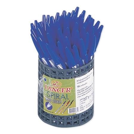 แลนเซอร์ ปากกาลูกลื่น สีน้ำเงิน 0.5 มม. รุ่น Spiral 825, 50 ด้าม/ กล่อง