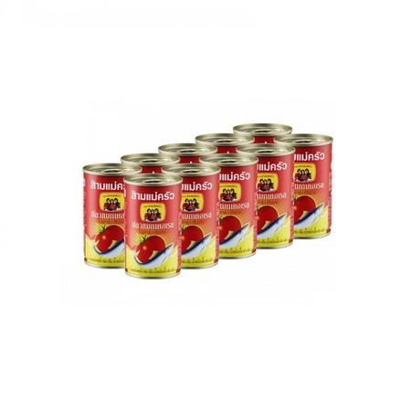 สามแม่ครัว ปลาแมคเคอเรล ในซอสมะเขือเทศ ฝาดึง 155 กรัม 10 กระป๋อง x 1แพ็ค