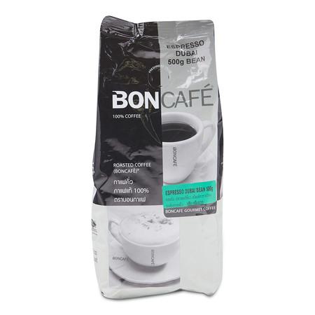 Boncafe เมล็ดกาแฟคั่วบดเอสเพรสโซ่ดูไบ ขนาด500 ก.