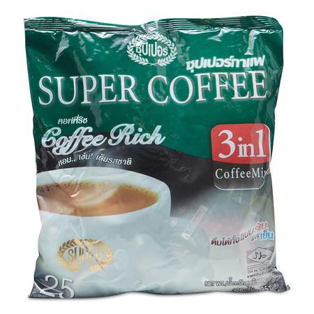 ซุปเปอร์ริช กาแฟปรุงสำเร็จชนิดผง ขนาด 20 ก. แพ็ก25 ซอง