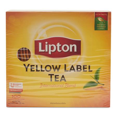 ลิปตัน ชาดำผงชนิดซอง ฉลากสีเหลือง ขนาด 2 ก. แพ็ก100 ชิ้น