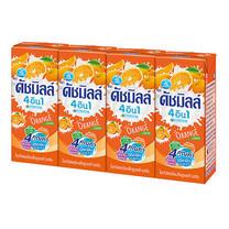 ดัชมิลล์นมเปรี้ยวรสส้มกล่อง 180 มล. แพ็ก 4