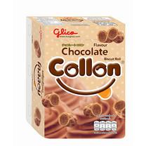 กูลิโกะโคลลอน บิสกิตโรลรสช็อกโกแลต 54 ก.