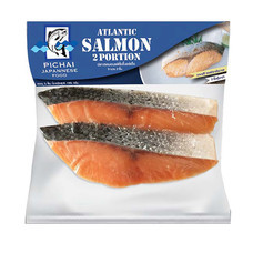 พิชัย เนื้อปลาแซลม่อนหั่นชิ้น 190 ก.