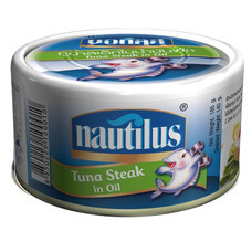 นอติลุสทูน่าสเต็กในน้ำมันพืช 185 ก.
