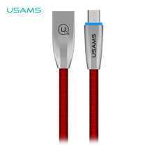สายชาร์จ USAMS รุ่น US-SJ183 Micro USB Data and Charging Cable 1.2m - Red