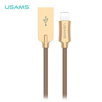 สายชาร์จ USAMS รุ่น US-SJ109 Lightning USB Charging Cable 1.2m - Brown