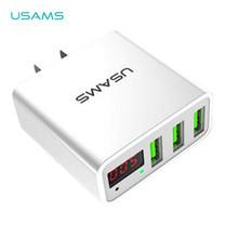อะแดปเตอร์ชาร์จไฟ USAMS รุ่น US-CC034 (3 Port USB) - White