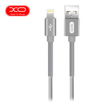 XO สายชาร์จ NB27 Spring USB Lightning Cable ยาว 1 m - Silver