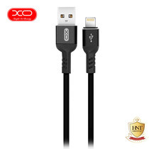 XO สายชาร์จ NB30 TPE Aluminium Alloy USB Lightning Cable ยาว 1 m - Black