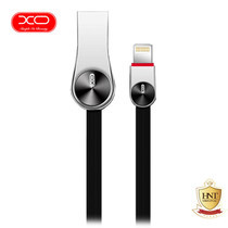 XO สายชาร์จ Lightning รุ่น NB20 Grain Zinc Alloy Data Cable - Black