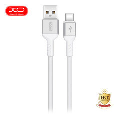 XO สายชาร์จ NB30 TPE Aluminium Alloy USB Type-C Cable ยาว 1 m - White