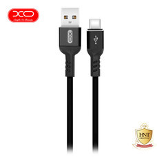 XO สายชาร์จ NB30 TPE Aluminium Alloy USB Type-C Cable ยาว 1 m - Black
