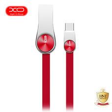 XO สายชาร์จ Type-C รุ่น NB20 Grain Zinc Alloy Data Cable - Red