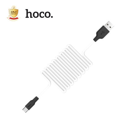 HOCO สายชาร์จซิลิโคน 2.0A สำหรับ Type-C รุ่น X21 สีดำ/ขาว Quick Charge