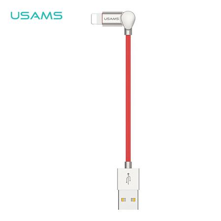 สายชาร์จ USAMS รุ่น US-SJ105 Lightning Folded Data Cable U-Kin Series 1m - Red