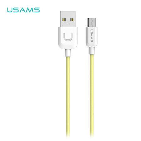 สายชาร์จ USAMS รุ่น US-SJ098 Micro USB Cable for Android 1m - Yellow