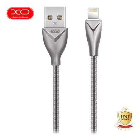 XO สายชาร์จ Lightning USB Cable รุ่น NB26 for iPhone ยาว 1 m - Silver