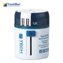 Travel Blue อะแดปเตอร์ปลั๊กไฟ Twist & Slide Worldwide Travel Adaptor+ USB รุ่น 272