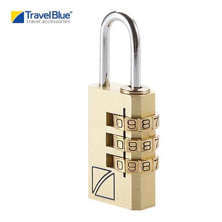 Travel Blue - แม่กุญแจระบบ Password รุ่น 3 Dial Combi 031