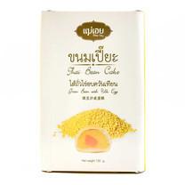 แม่เอย ขนมเปี๊ยะ 6 ชิ้น ไส้ถั่วไข่อบควันเทียน 120 ก.